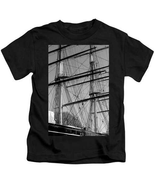 Masts And Rigging Of The Cutty Sark Kids T-Shirt