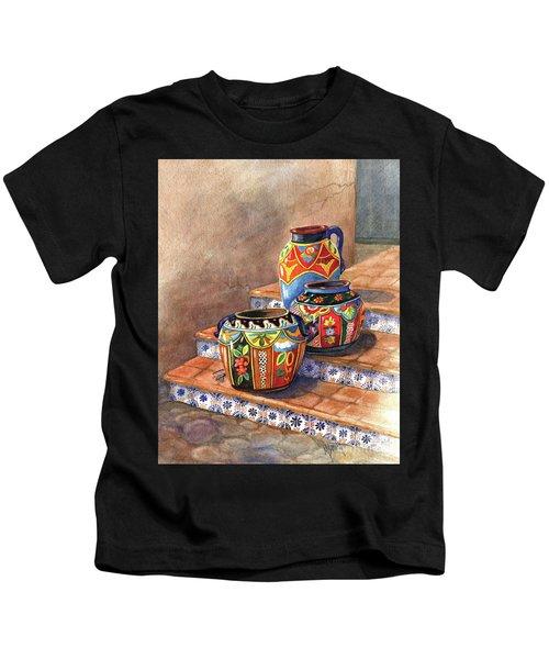 Mexican Pottery Still Life Kids T-Shirt