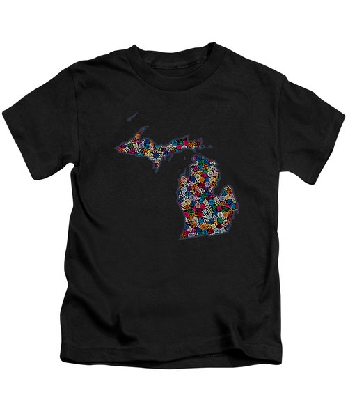 Michigan Map - 2 Kids T-Shirt