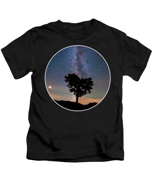 Milky Way Heart Tree Circle Kids T-Shirt