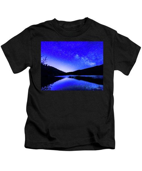 Milky Way Over Springtime Echo Lake Kids T-Shirt