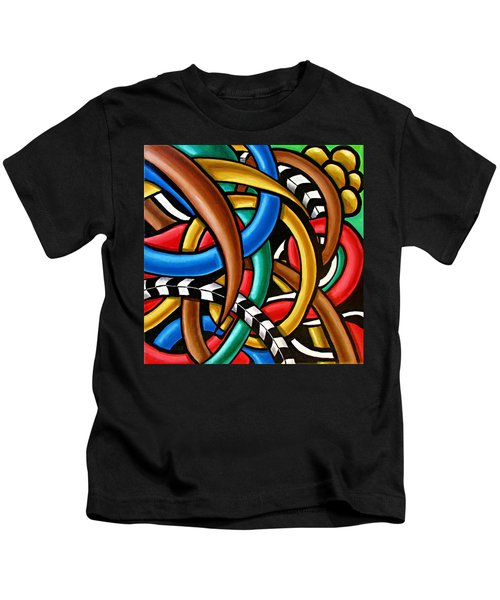 Colorful Abstract Art Painting Chromatic Intuitive Energy Art - Ai P. Nilson Kids T-Shirt