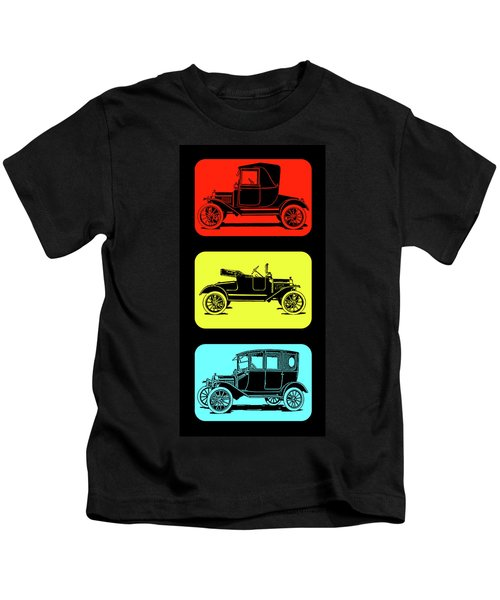 Model T Ford Triple Kids T-Shirt