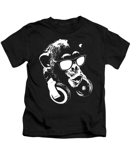 Monkey Dj Minimalistic Kids T-Shirt