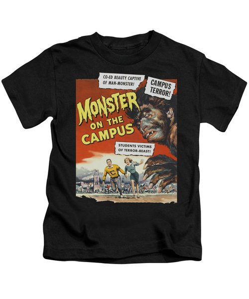 Monster On The Campus Vintage Movie Poster Kids T-Shirt