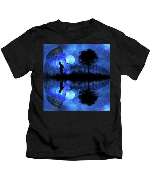 Moonlight Colosseum Kids T-Shirt