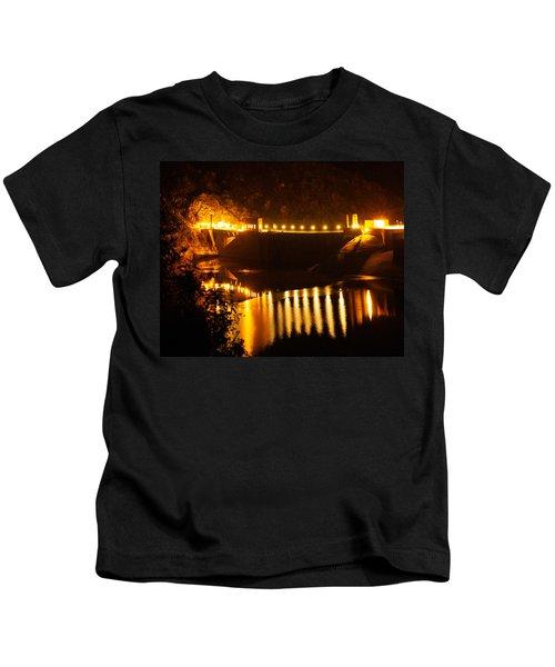 Moonlit Dam Kids T-Shirt