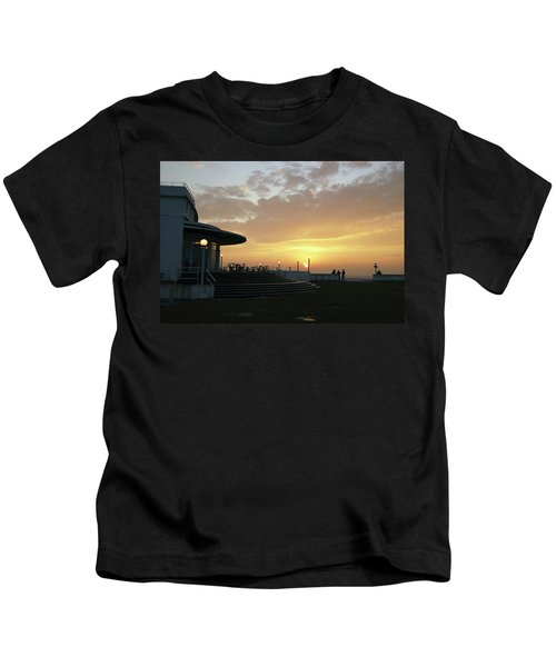 Morecambe. Evening On The Bay Kids T-Shirt