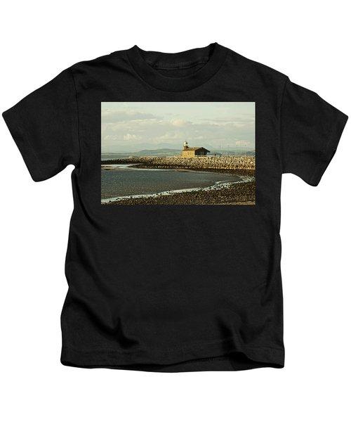 Morecambe. The Stone Jetty. Kids T-Shirt