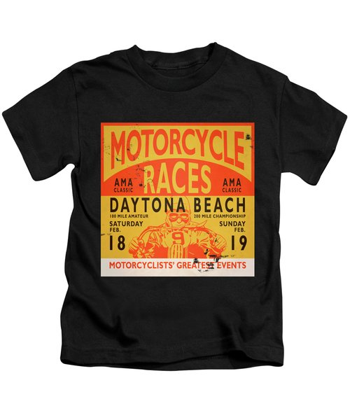 Motorcycle Races Daytona Beach Kids T-Shirt