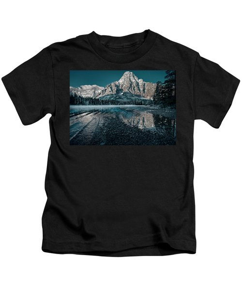 Mount Chephren Reflected Kids T-Shirt