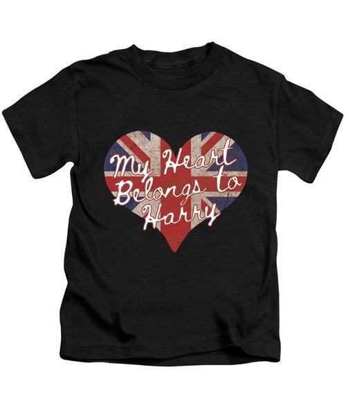 My Heart Belongs To Prince Harry Kids T-Shirt