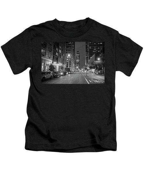 New York City Gotham West Market New York Ny Black And White Kids T-Shirt