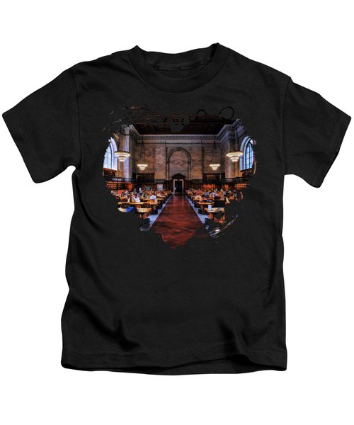 New York City Public Library Rose Reading Room Kids T-Shirt