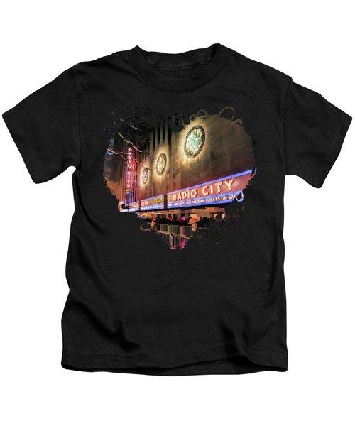 New York City Radio City Music Hall Kids T-Shirt