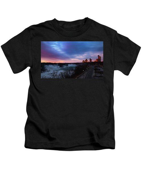 Niagara Falls At Sunrise Kids T-Shirt
