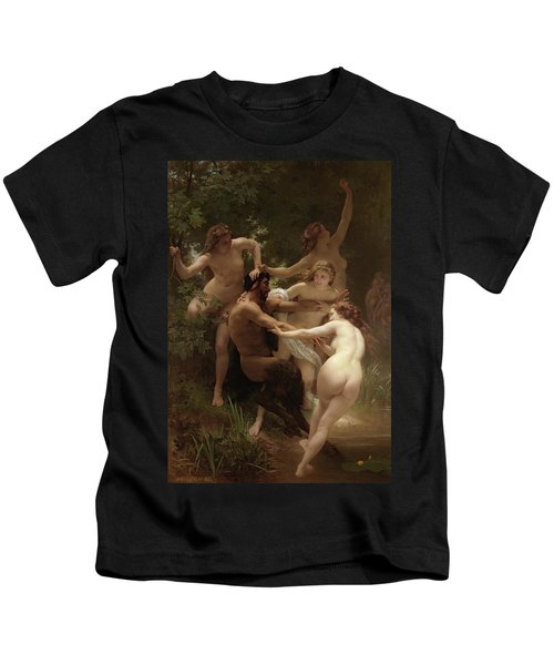 Nymphs And Satyr, 1873 Kids T-Shirt