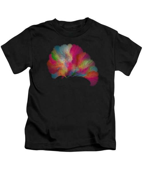 Ocean Fan Coral  Detailed Fractal  Kids T-Shirt