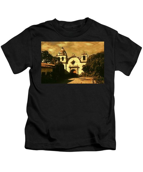 Old Carmel Mission - Watercolor Painting Kids T-Shirt