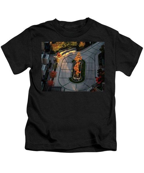 Orange Trees In Autumn Kids T-Shirt