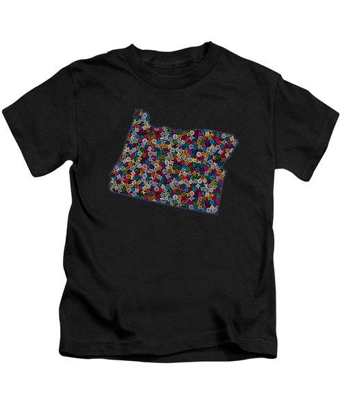 Oregon Map - 2 Kids T-Shirt