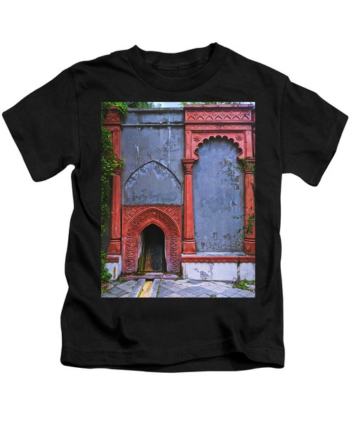 Ornate Red Wall Kids T-Shirt
