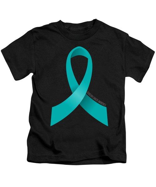 Ovarian Cancer Awareness Ribbon Kids T-Shirt