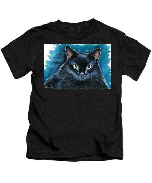 Ozzy Black Cat Painting Kids T-Shirt