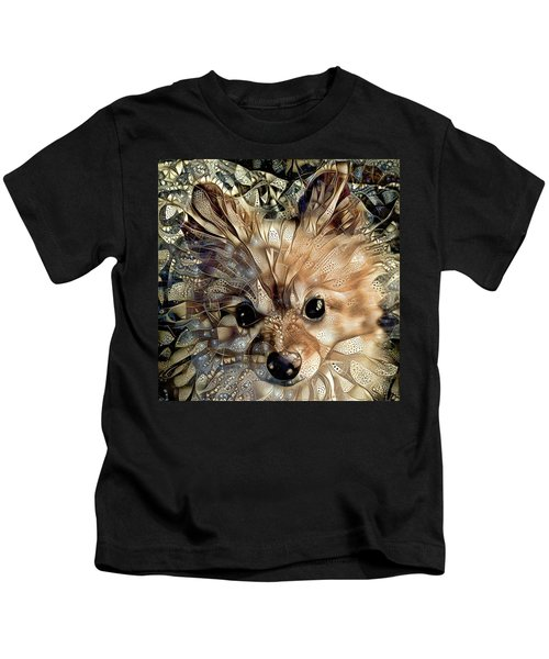 Paris The Pomeranian Dog Kids T-Shirt