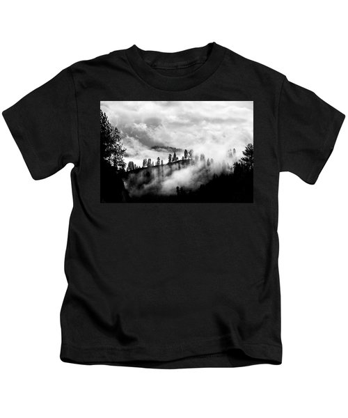 Passing Storm Central Idaho Mountains Kids T-Shirt