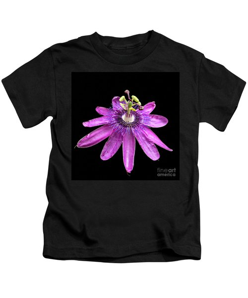 Passionate Pink Passion Flower Kids T-Shirt