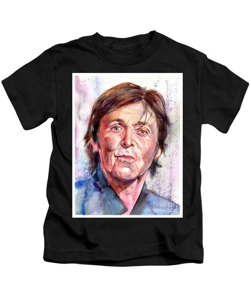 Paul Mccartney Watercolor Kids T-Shirt