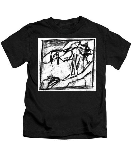Pencil Squares Black Canine B Kids T-Shirt