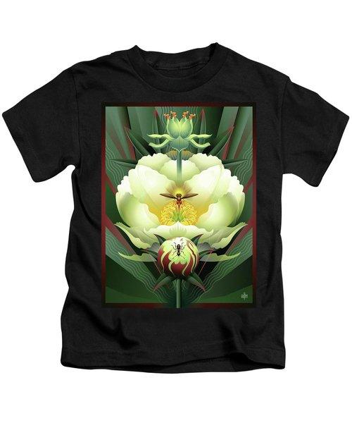 Peony White Glory Kids T-Shirt