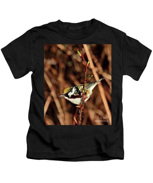 Perky Little Warbler Kids T-Shirt