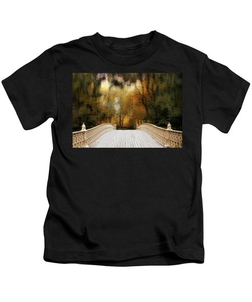 Pine Bank Arch In Autumn Kids T-Shirt
