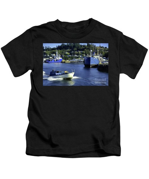 Port Of Astoria Oregon Kids T-Shirt