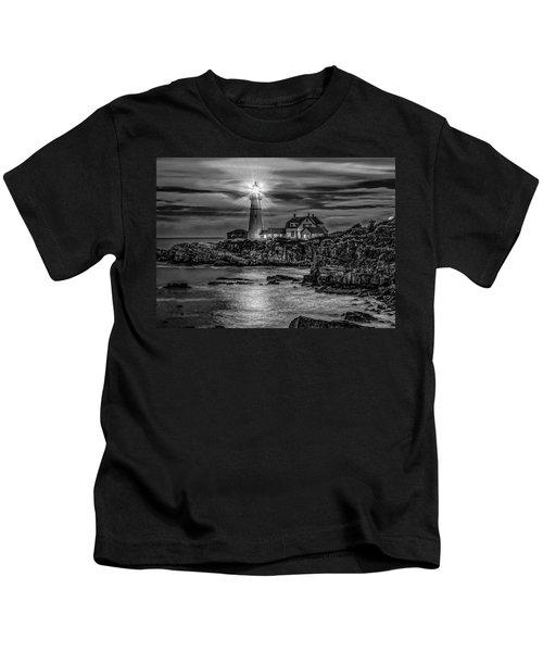 Portland Lighthouse 7363 Kids T-Shirt
