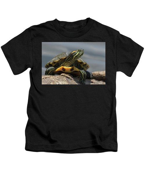 Portrait Of A Turtle Kids T-Shirt