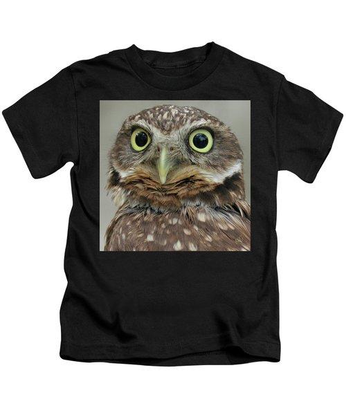 Portrait Of Burrowing Owl Kids T-Shirt