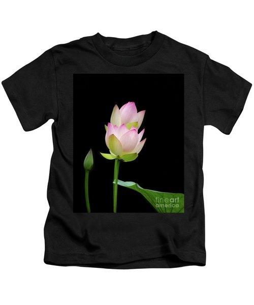Pretty Pink Spring Lotus Kids T-Shirt