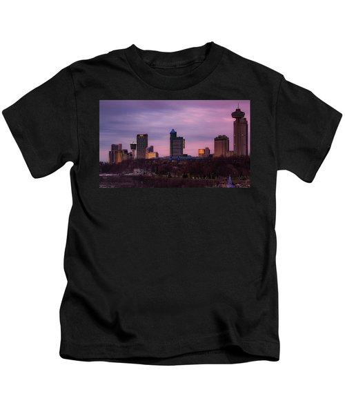 Purple Haze Skyline Kids T-Shirt