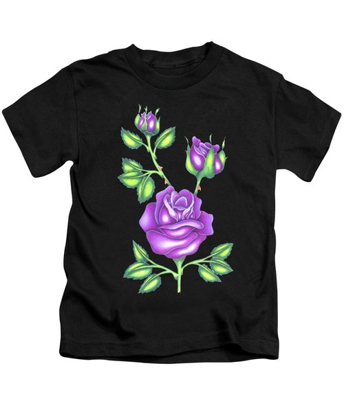 Purple Roses Kids T-Shirt