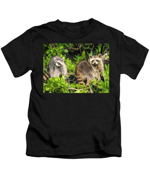 Raccoons In The Mangroves Kids T-Shirt
