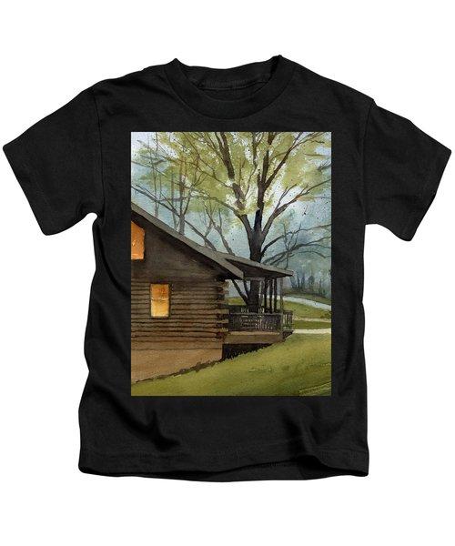 Rainy Day At Harmonie Park Kids T-Shirt