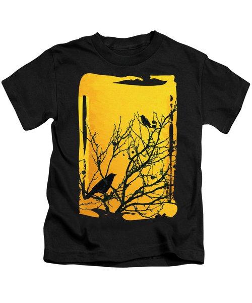 Raven - Black Over Yellow Kids T-Shirt