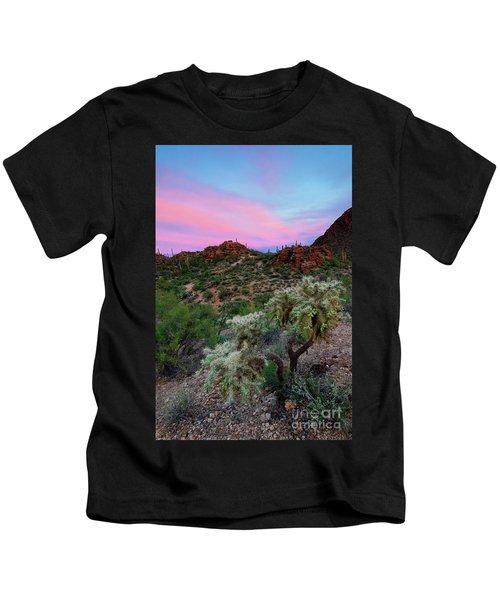 Red Sky Cholla Kids T-Shirt