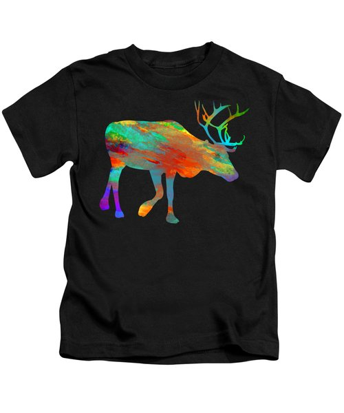 Reindeer Wall Art Kids T-Shirt
