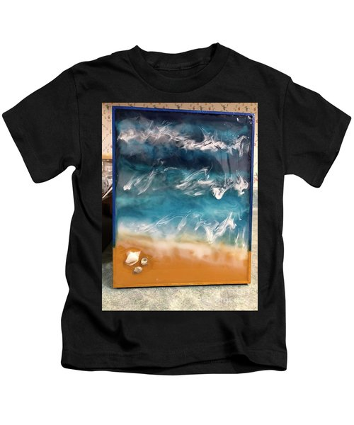 resin-Waves-2a Kids T-Shirt