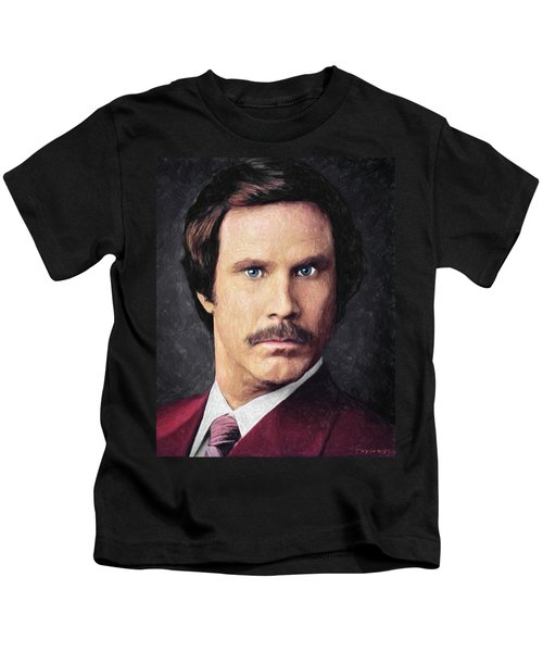 Ron Burgundy Kids T-Shirt